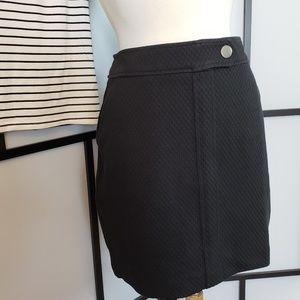 Banana Republic black ,tab front mini skirt